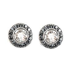 Anne Koplik Silver Night Stud Earrings
