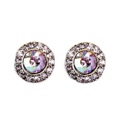 Anne Koplik Smokey Mauve Amethyst Stud Earrings