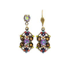 Anne Koplik Spectacular Paradise Shine Multicolored Earrings