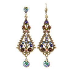 Anne Koplik Spectacular Paradise Shine Multicolored Statement Earrings