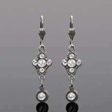 Anne Koplik Trefoil Drop Crystal Earrings