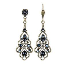 Anne Koplik Valentina Blue Lace Earrings