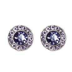 Anne Koplik Violet Tanzanite Stud Earrings