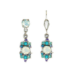 Anne Koplik White Opal Art Deco Inspired Earrings