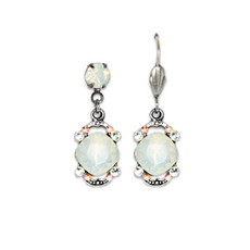 Anne Koplik White Opal Cushion Earrings
