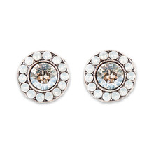 Anne Koplik White Opal Moonlight Stud Earrings