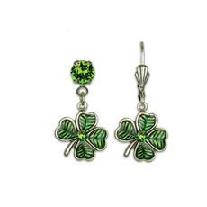 Anne Koplik Four Leaf Clover Shamrock Earrings