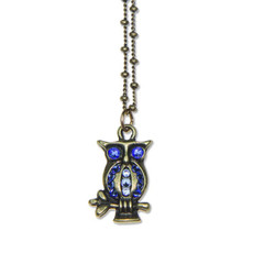 Anne Koplik Perched Kappa Blue Owl Pendant