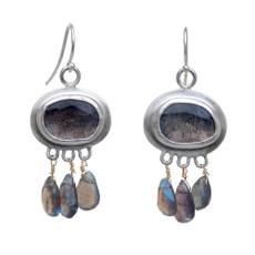 Nava Zahavi Silver Stormy Labradorite Earrings