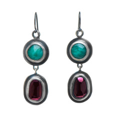 Nava Zahavi Silver Power Couple Earrings