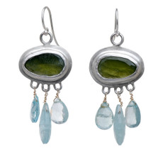 Nava Zahavi Silver Nature Fields Earrings