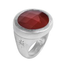 Nava Zahavi Silver Sunset Carnelia Ring