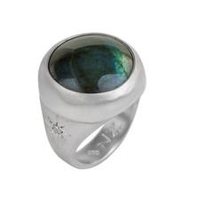 Nava Zahavi Silver Deep Labradrite Ring
