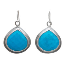 Nava Zahavi Silver Turquoise Heart Earrings