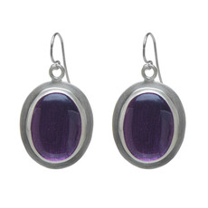 Nava Zahavi Silver Purple Rain Earrings