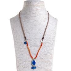 Nava Zahavi Silver Agat Twist Necklace