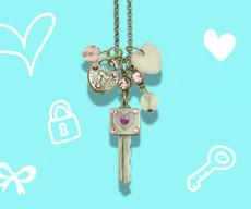 Anne Koplik Key to my Heart Jumble Charm Necklace