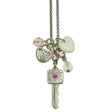 Anne Koplik Key to my Heart Jumble Charm Necklace