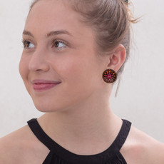 Ayala Bar Secret Cave Cute as a Button Earrings