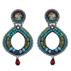 Ayala Bar Turquoise Crown Mosaic Earrings