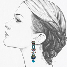 Ayala Bar Turquoise Crown Emerald City Earrings