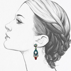 Ayala Bar Turquoise Crown Heir to the Throne Earrings