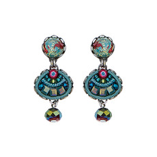 Ayala Bar Turquoise Crown Lillypad Earrings