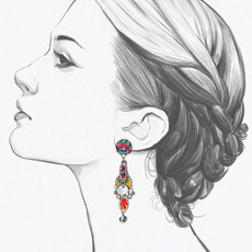 Ayala Bar Zen Arcade Hot Air Balloon Earrings