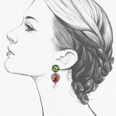Ayala Bar Zen Arcade Apricot Earrings