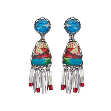 Ayala Bar Clear Coast Saltwater Taffy Earrings
