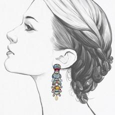 Ayala Bar Silent Dream Stargaze Earrings