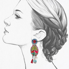 Ayala Bar Pomegranate Punch Earrings