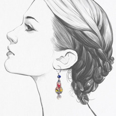 Ayala Bar Lemonade French Wire Earrings