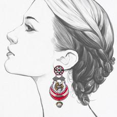 Ayala Bar Navajo Half Moon Earrings