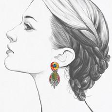 Ayala Bar Eye of the Peacock Post Earrings