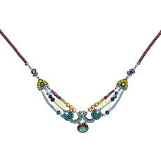 Ayala Bar Turquoise Crown Coco Chenille Necklace