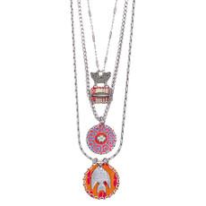 Ayala Bar Orange Sherbet Long and Layered Necklace