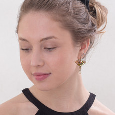 Michal Golan Pearl Blossom Alstro Earrings