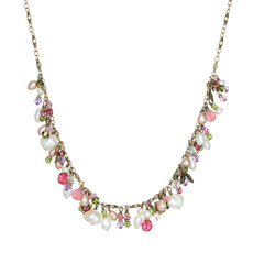 Michal Golan Pearl Blossom Charm Necklace