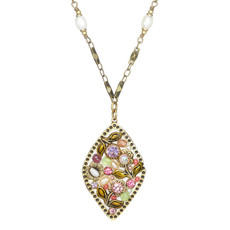 Michal Golan Pearl Blossom Diamond Pendant Necklace