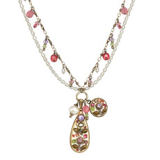 Michal Golan Pearl Blossom Charms Necklace