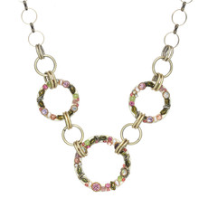 Michal Golan Pearl Blossom Open Circles Necklace