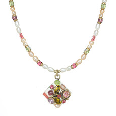 Michal Golan Pearl Blossom Small Diamond Necklace
