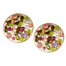 Michal Golan Pearl Blossom Circle Earrings