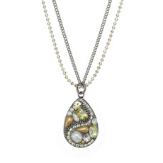 Michal Golan Moonlight Drop Double Chain Necklace