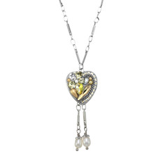 Michal Golan Moonlight Heart Dangling Necklace