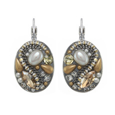 Michal Golan Moonlight Oval Earrings I