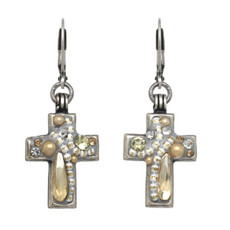 Michal Golan Moonlight Cross Earrings