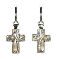Michal Golan Moonlight Cross Earrings
