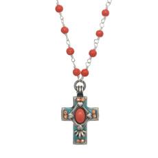 Michal Golan Aruba Cross Necklace